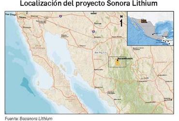 México, clave para Bacanora, productora inglesa de litio